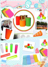 Alibaba express self adhesive fluorescent color paper