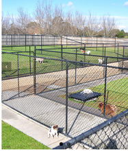 Large outdoor chain link dog kennel/welded wire dog kennel