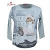 children print cotton frocks sublimation kids girl t shirt wholesale clothes
