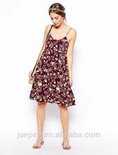 Mujeres venta al por mayor sexy ropa de moda para mujer de verano floral vestidos estampados