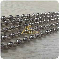 Stainless steel ball chain curtain screen for room divider