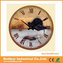 12inch decorative MDF wall clock for promotion