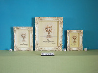$11000 Trade Assurance Product Ornate Resin white Picture Frame for 4x6 5x7 Wedding Photo