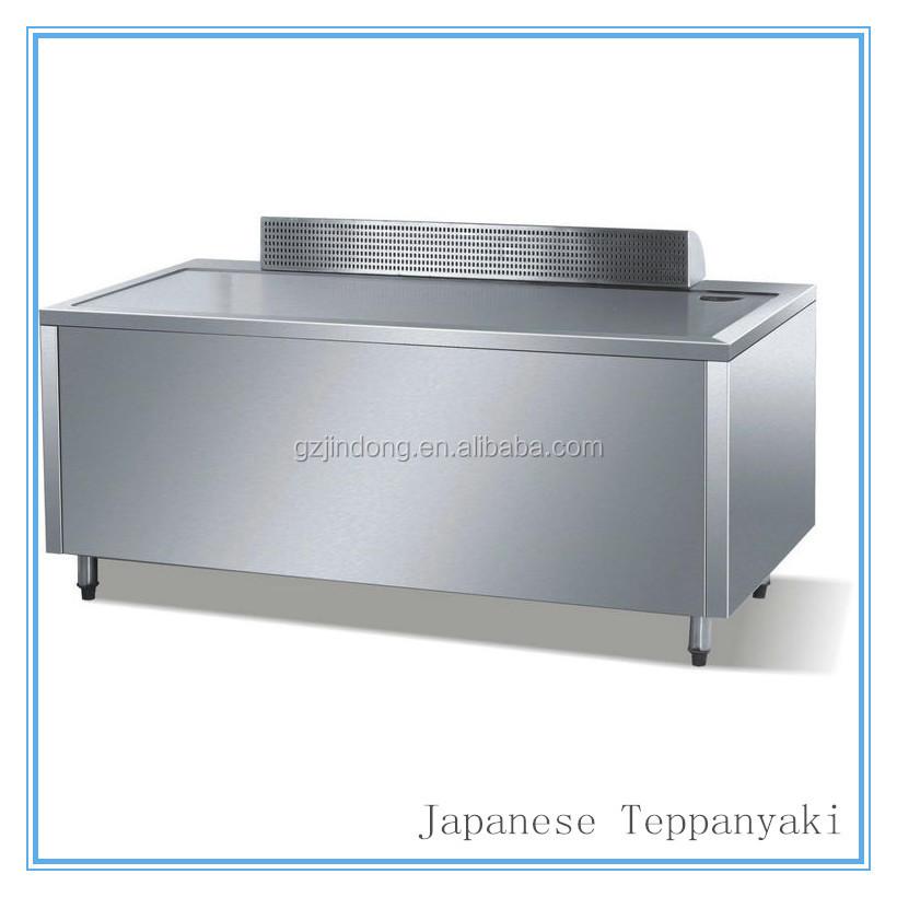Eg 1200 1 2 m pied de sol plat rectangulaire gaz - Table de cuisson japonaise teppanyaki ...