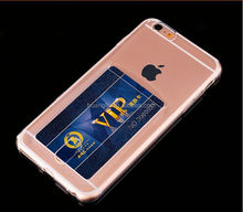 Hot selling Solf jelly cover credit card case for iphone 4 easy install