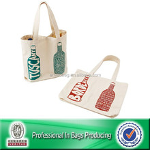 Lovely design for canvas cotton wine bottle bags