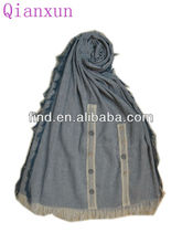 women winter solid color modern scarf shawl