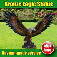 Professional metal Eagle Sculpture for sale with Customized Service