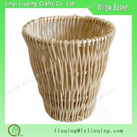 Wholesale high quality cheap wicker laundry basket / decorative waste paper baskets/paper craft waste basket