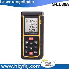 De distancia del laser medición de volumen electrónico measureer láser altura ancho buscador / altímetro / laser range finder