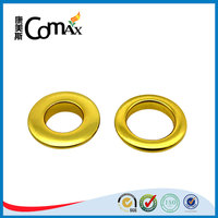 Gold metal round eyelets for canvas