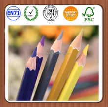 3.5'' Length Hexagonal/Round Sharpened Natural Wooden Mini Color Pencil
