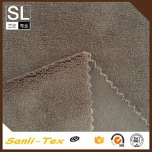 93% polyester 7% spandex knitting micro fiber velboa fabric