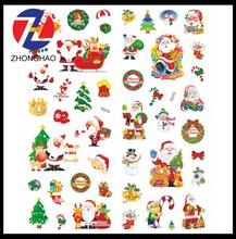 2015 New Arrived decoration Christmas design unique elegant sticker paper