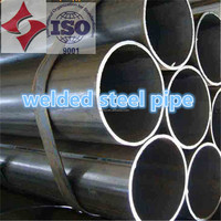 EN 10219 S275 S355 Black cold rolled mild carbon erw welded round steel pipe