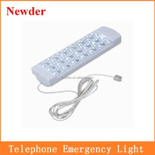 21 LED telephone emergency light, connect with Telephone or Dry Cell