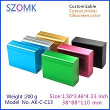 """Aluminum case box enlosure extrusion enclosure box aluminum project box enclosure case 110 (H)x88(W)x38(L)mm 1.5 """" x 3.46 """" x"""