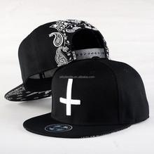 Fashion Design Mens Baseball Cap Black Design /Men Hip Hop Snapback Cap Hat/Custom Design Snapback Hats