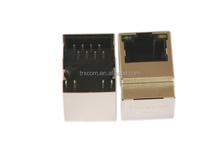 Transformer Integrated RJ45 Modular Jack with 0.25mm Thick Copper Alloy and Tin Lead Plating