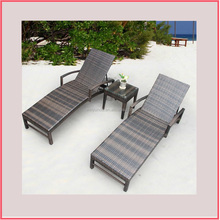Outdoor wicker alibaba chaise lounge
