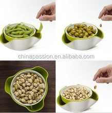 Creative 2 in 1 snack & store double dish
