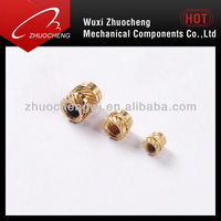 brass knurled threaded insert nuts