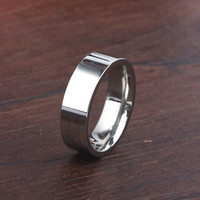 Simple design titanium steel ring of Fashion men's ring silver wedding ring for express alibaba