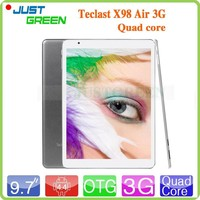 Shenzhen tablet Teclast X98 Air 3G 9.7 inch android tablet pc Intel Atom Z3736F Quad Core Android 4.4 ram 2g rom 32gb