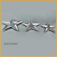 indoor color star shape ceramic plates for christmas ornaments