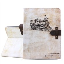 Retro leather case cover for iPad 2/3/4 with factory price