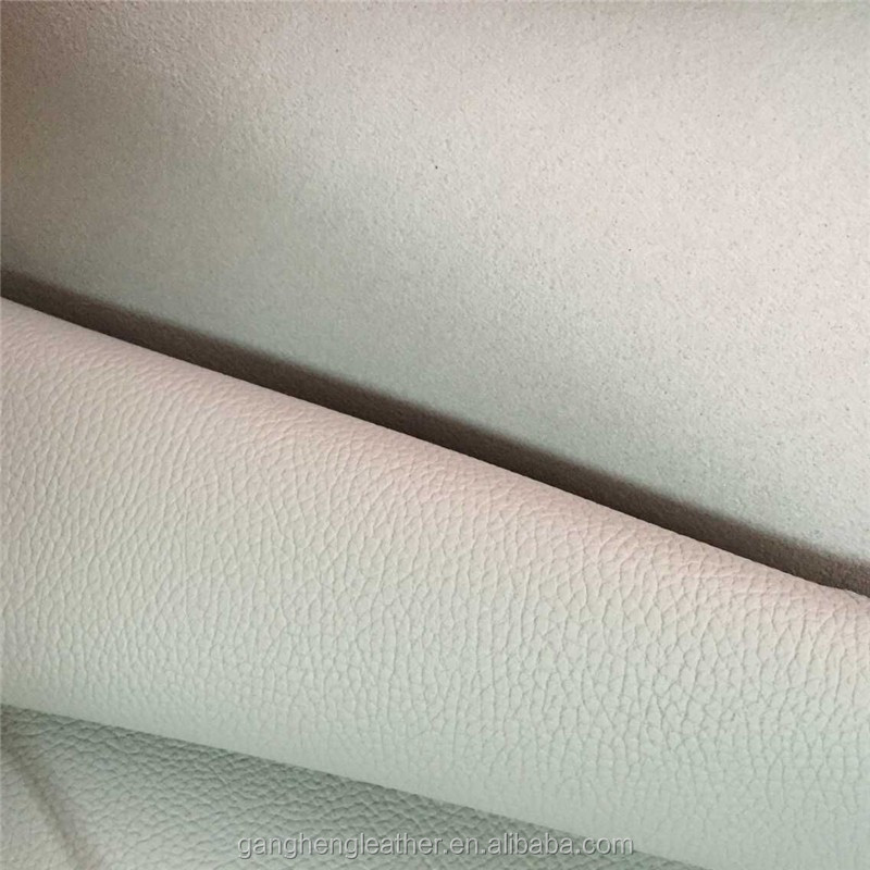 White Embossed Lichee Pattern Rohs Car Interior Synthetic Leather Material Suppliers Buy Rohs