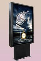 standing scrolling light box ,aluminum snap frame diy led light box