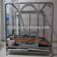 High qulaity Square tube dog cage from manufacture