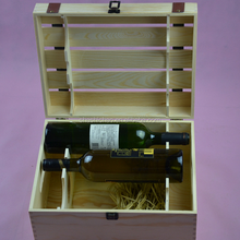 customized natural color wood box wine with factory price supply in shanghai of China