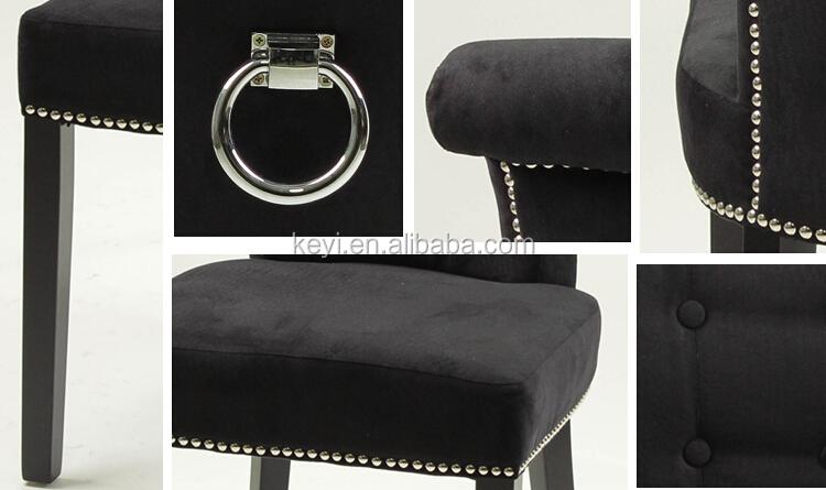 Moderne Bouton Tissu De Conception Salle Manger Salon Htel Anneau Retour Chaise KY 3205