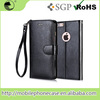 Mobile Phone Accessories 2015 Cheap PU+PC With Strap Can Stand Mobile Phone Case For iPhone 6s