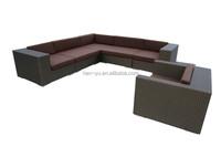 malaysia outdoor furniture garden L shape wicker sofa