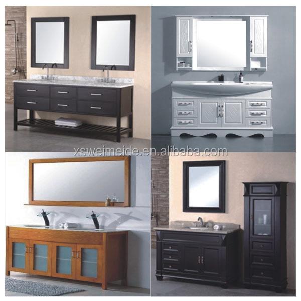 Oak Floor Standing Bathroom Cabinets : Floor standing solid wood double sinks bathroom vanity