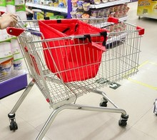 Foldable reusable supermarket shopping cart bag