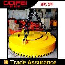 High Efficient Crane Circular Lifting Electromagnet Power