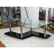 factory design double layer high gloss coffee table