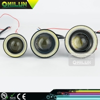 Factory direct Universal DC12V 2.5'' 64mm 30W Mini LED Daytime Running Lights with inlay Angel eyes light