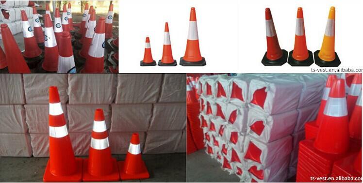 교통 도로 안전 콘 도로 안전 이끌어 반사 축소 콘은