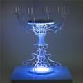 atacado de natal decorativas chão plástico candelabro acrílico mesa de centro de suporte de vela de vidro castiçal