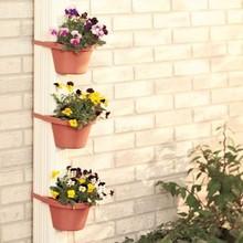 plastic half round wall planter pot for flower