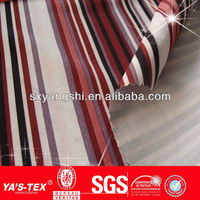Waterproof stripe printed 100D and 75D stretch fabric