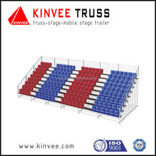 Aluminum bleacher seating /seating system for outdoor event