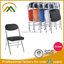 Modern cheap Chromed folding chair with pad KP-C7469