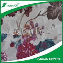 high quality lower price flower/flora print micro velboa fabric for sofa/cushion cover/curtain hot sale in Mid-east/Spain market