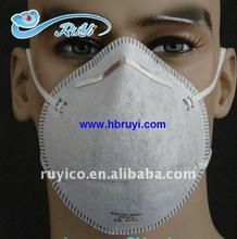 disposable N95 FFP2 dust mask / face respirator with active carbon